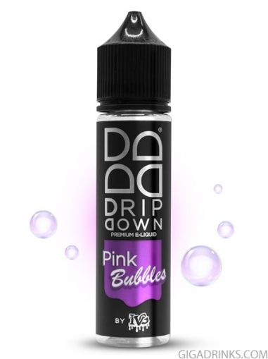 Pink Bubbles 50ml 0mg - Drip Down Shake and Vape