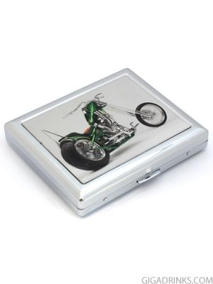 Star Motorcycle meta cigarette case for 20 cigarettes