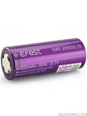Батерия 26650 Efest 4200mAh 20/50A