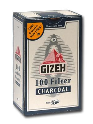 Gizeh Charcoal (8mm) с активен въглен