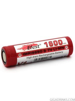 Батерия 18650 Efest IMR 1600mAh 30A 3.7V