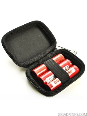 Zipper case for 3pcs 18650 batteires