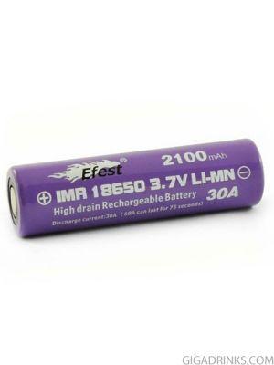 Батерия 18650 IMR Efest 2100mAh 30A 3.7V Purple