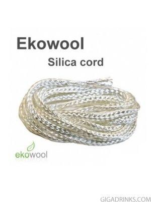 Фитил за електронни цигари Ekowool със силикатна сърцевина  2мм / 1м