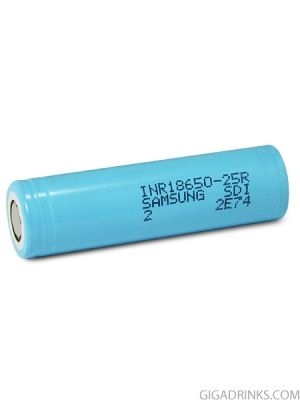 Батерия 18650 Samsung INR18650-25R 2500mAh (20 amps)